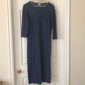 GAP purple stripe maxi dress